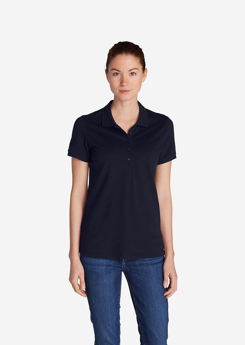 Eddie Bauer Women 39 S Piqu Short Sleeve Polo Shirt Casual