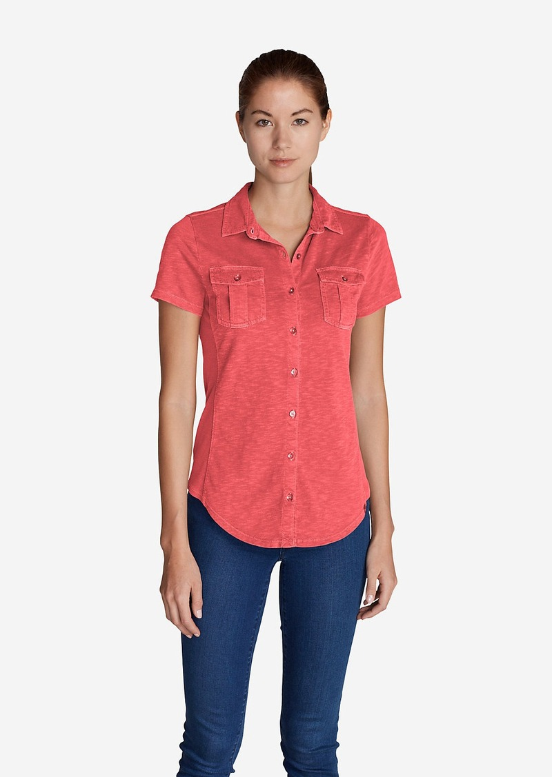 Eddie Bauer Women's Ravenna Short-Sleeve Button-Front Shirt