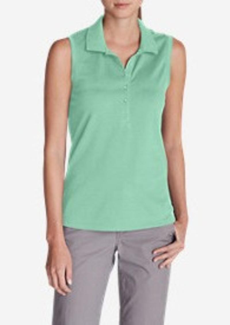 1f1be973ead6a Eddie Bauer Women s Sleeveless Piqué Polo Shirt