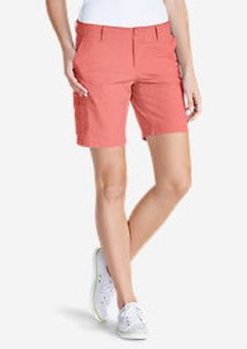 "Eddie Bauer Women's Slightly Curvy Adventurer® Ripstop 8"" Cargo Shorts"
