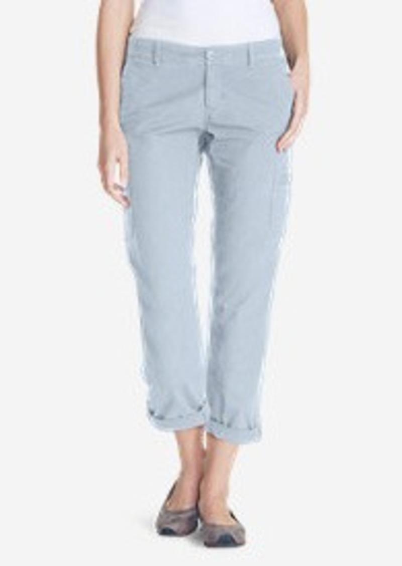 Eddie Bauer Women's Slightly Curvy Adventurer® Ripstop Crop Cargo Pants