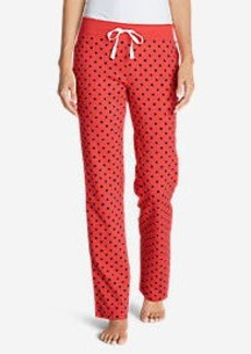 Eddie Bauer Women's Stine's Knit Sleep Pants - Print