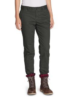 Eddie Bauer Women's Stretch Legend Wash Flannel-Lined Pants - Boyfriend