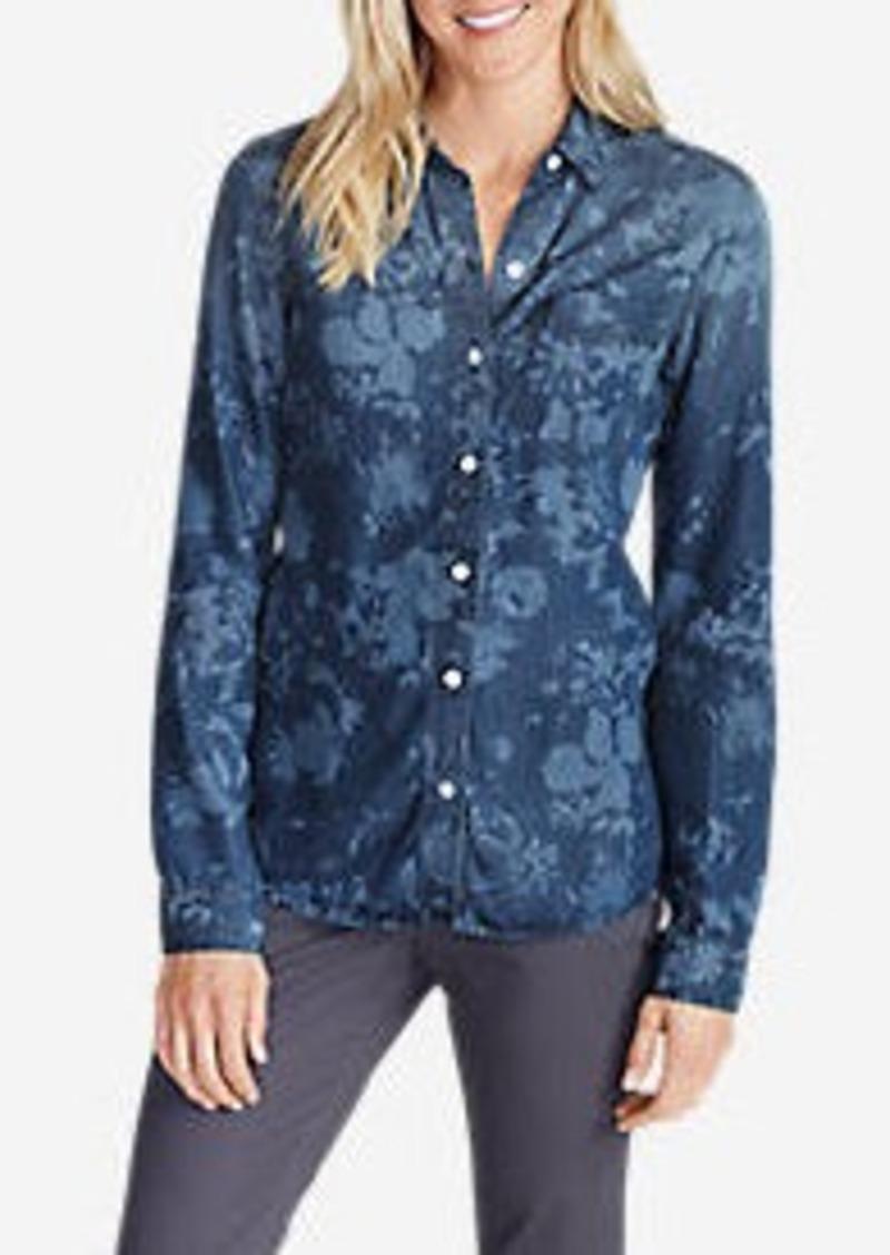 Eddie Bauer Women's Tranquil Boyfriend Shirt - Print