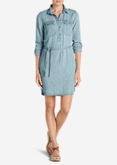Eddie Bauer Women's Tranquil Indigo Shirt Dress