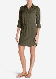 Eddie Bauer Women's Tranquil Shirt Dress - Solid