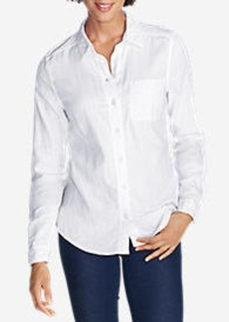 Eddie Bauer Women's Treeline Double Cloth Shirt - Solid