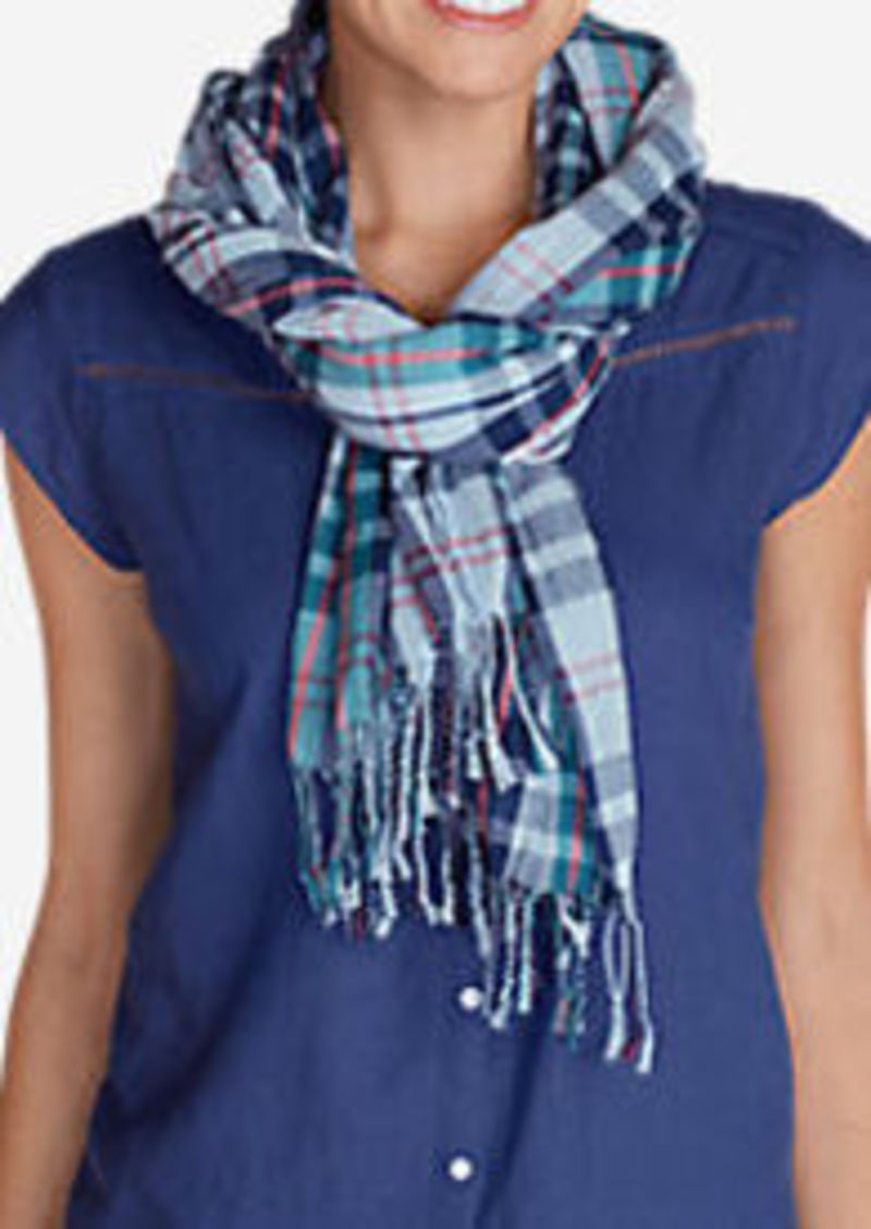 Eddie Bauer Women's Weekend Getaway Oblong Scarf - Plaid