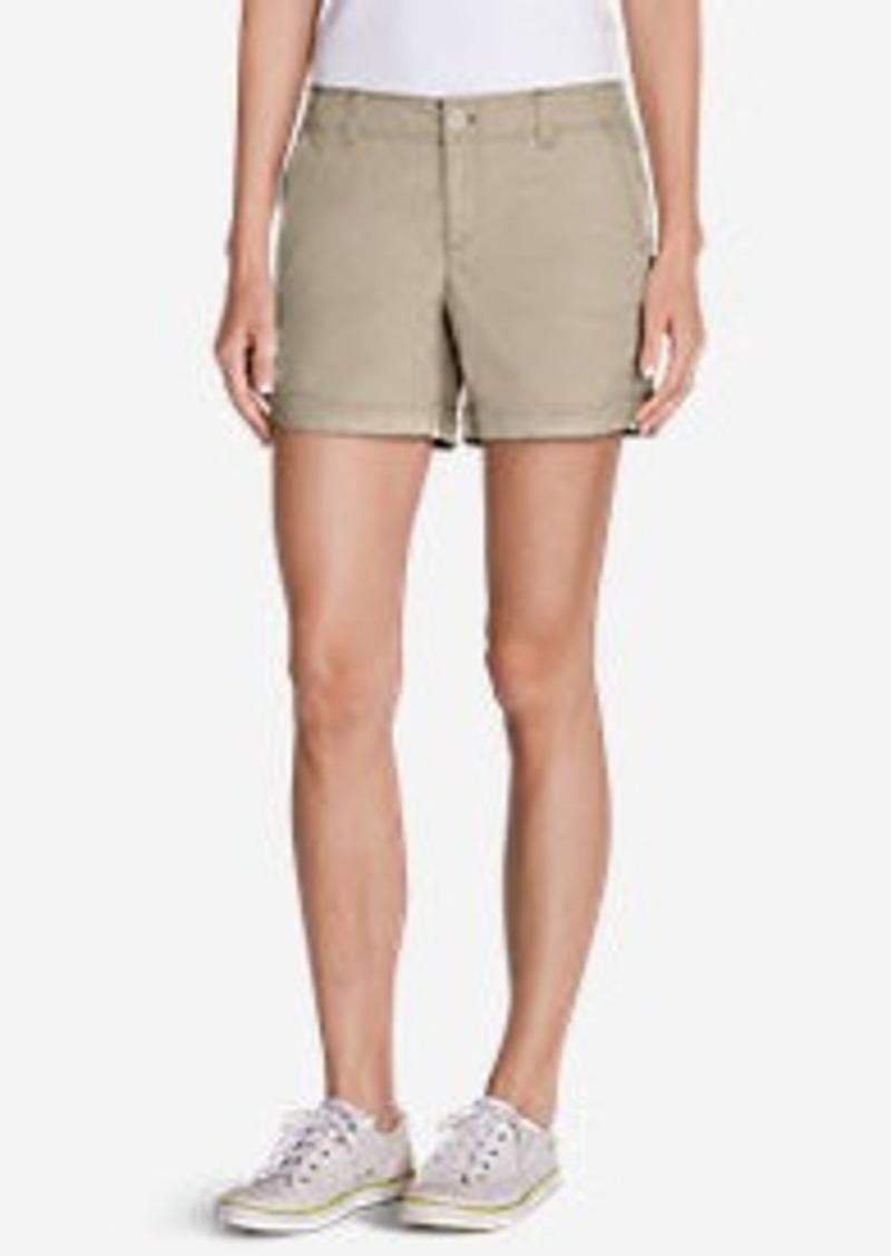 Eddie Bauer Women's Willit Poplin Shorts - Herringbone