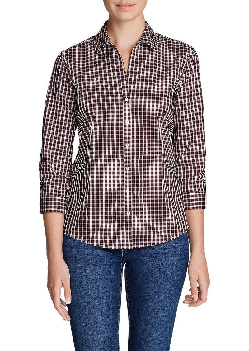 Eddie Bauer Women's Wrinkle-Free 3/4-Sleeve Shirt - Print