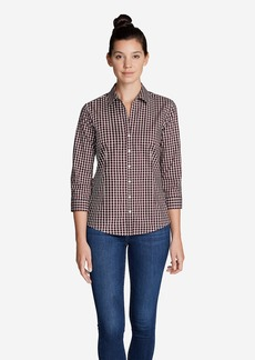 Eddie Bauer Women's Wrinkle-Free 3/4-Sleeve Shirt - Print