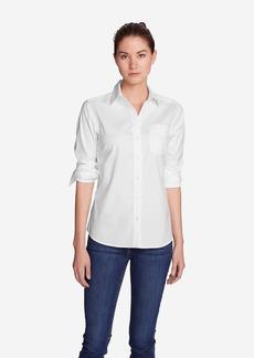 Eddie Bauer Women's Wrinkle-Free Boyfriend Long-Sleeve Shirt