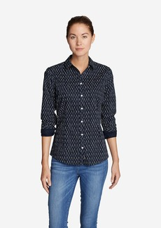 Eddie Bauer Women's Wrinkle-Free Long-Sleeve Shirt - Print