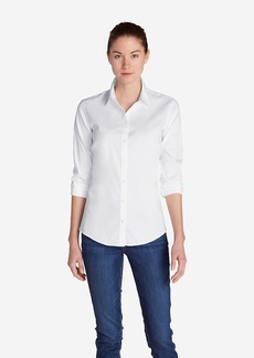 Eddie Bauer Women's Wrinkle-Free Long-Sleeve Shirt - Solid