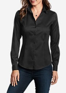 Eddie Bauer Women's Wrinkle-Free Long-Sleeve Shirt - Solid