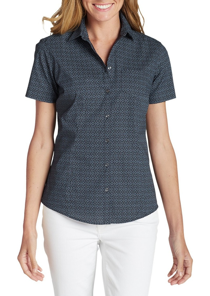 Eddie Bauer Women's Wrinkle-Free Short-Sleeve Shirt - Print