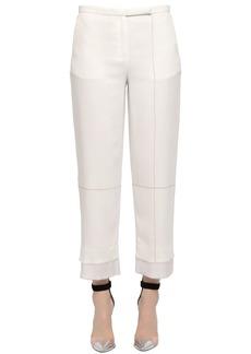 Edun Double Layer Cropped Piqué Pants