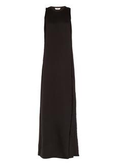 Edun Frayed-edge satin gown
