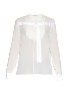 Edun Long-sleeved silk-chiffon blouse