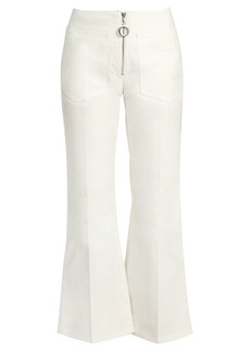 Edun Mid-rise flared cropped jeans