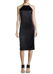 Edun T-BACK HALTER DRESS