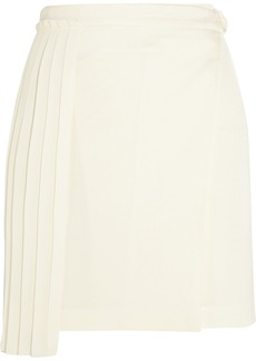 Edun Woman Silk Chiffon-paneled Crepe Mini Skirt Ivory