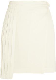 Edun Silk-chiffon paneled crepe mini skirt