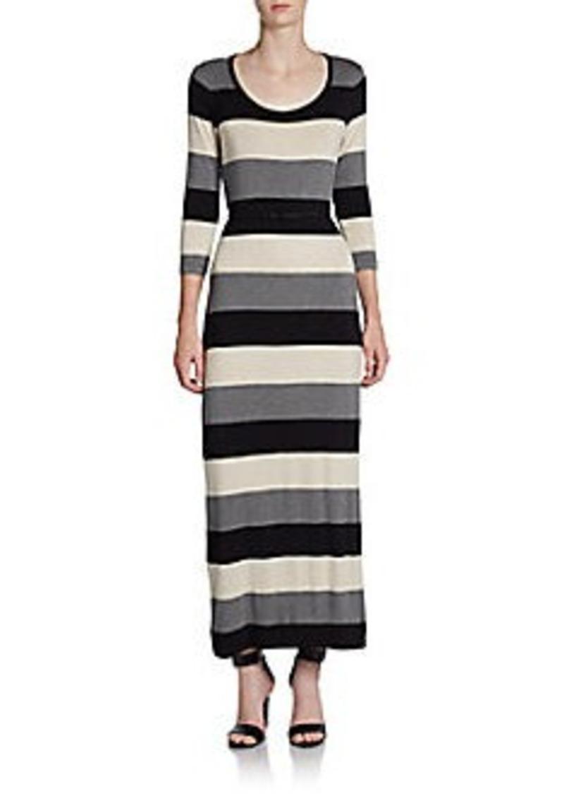 Calvin Klein Striped Knit Maxi Dress
