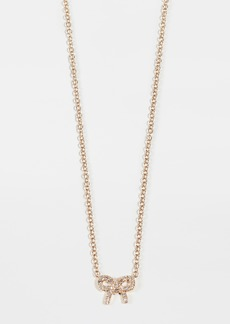 EF Collection 14k Diamond Mini Bow Necklace