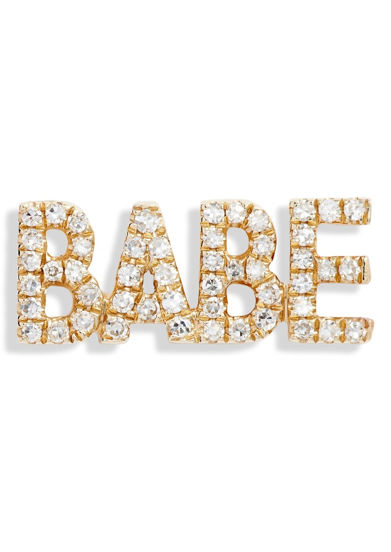 EF Collection Babe Diamond Stud Earring