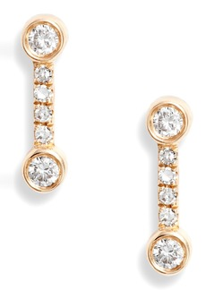 EF Collection Bezel Diamond Stud Earrings