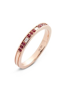 EF Collection Diamond & Semiprecious Stone Stacking Ring