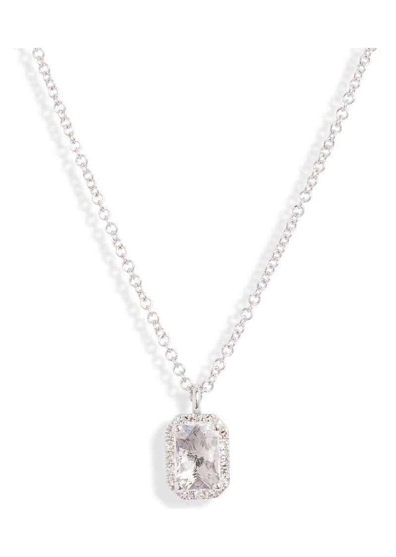 EF Collection Diamond & Topaz Pendant Necklace