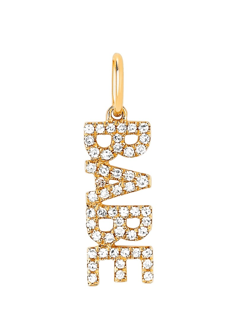 EF Collection Diamond Babe Pendant Charm