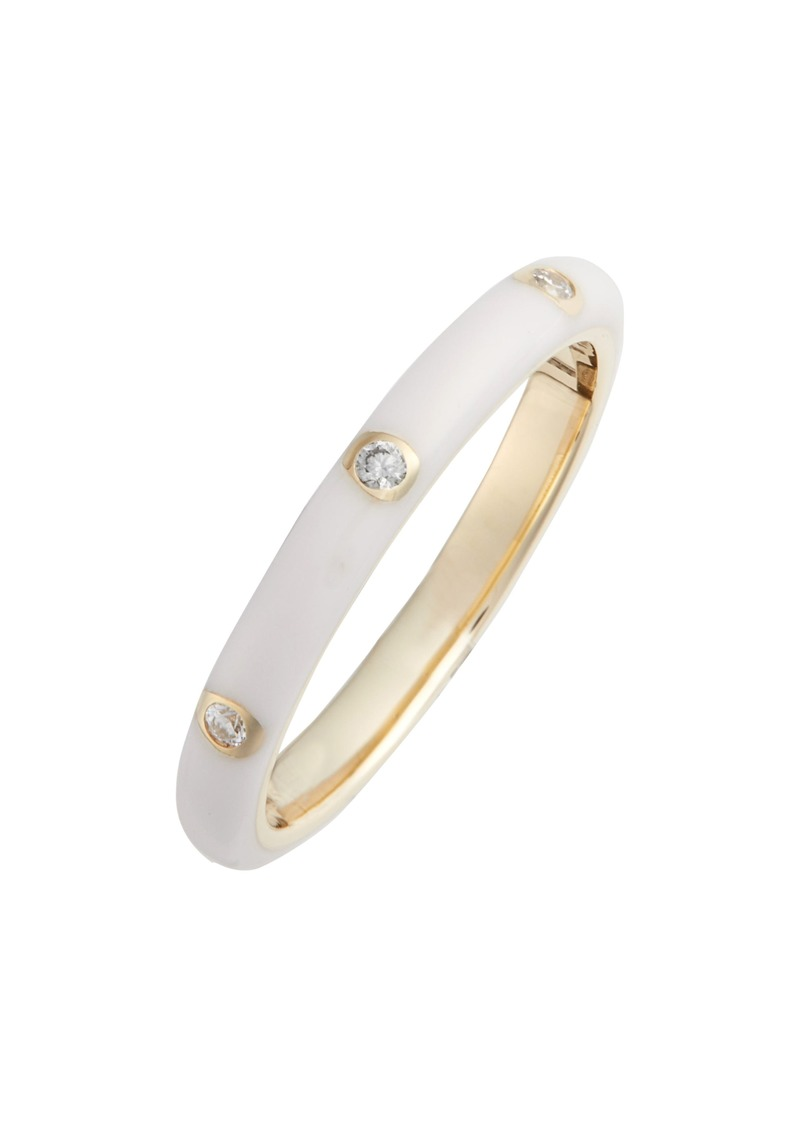 EF Collection Diamond Enamel Stacking Ring