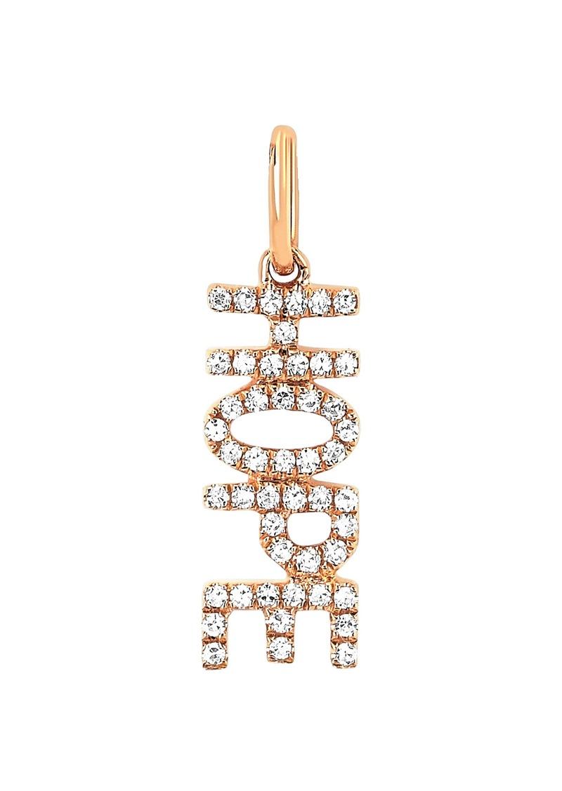 EF Collection Diamond Hope Pendant Charm