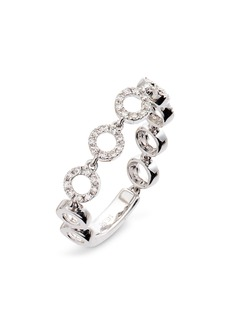EF Collection Diamond Open Circle Ring