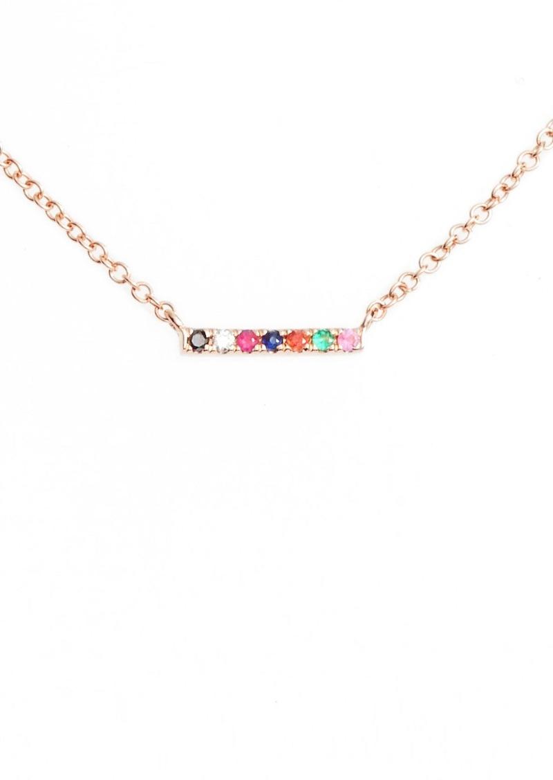 EF Collection Mini Bar Rainbow Necklace