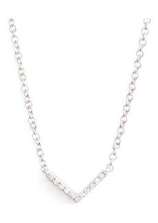 EF Collection Mini Chevron Diamond Pendant Necklace