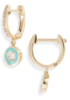 EF Collection Mini Diamond Huggie Hoop Earrings