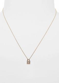 EF Collection Mini Diamond Lock Pendant Necklace