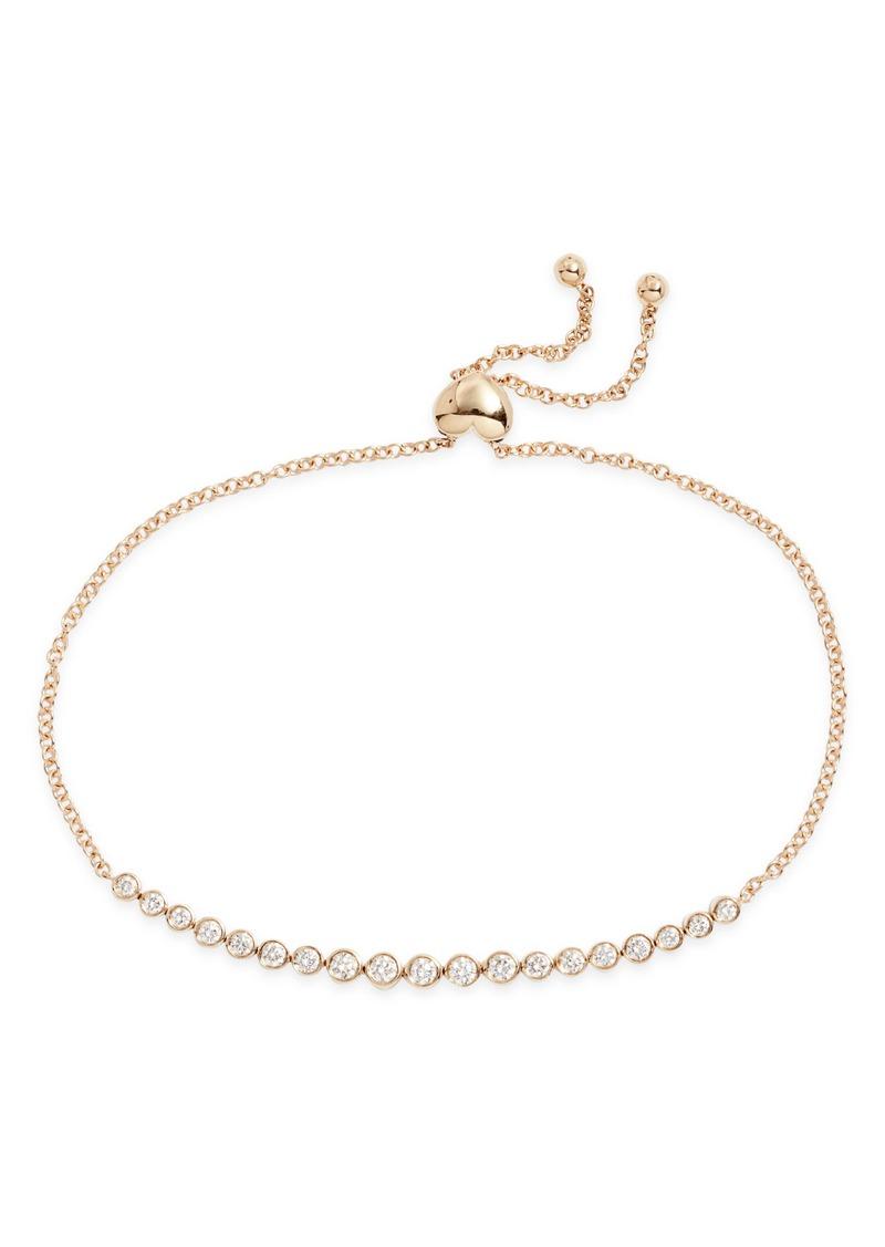 EF Collection Multi Diamond Bezel Bolo Bracelet