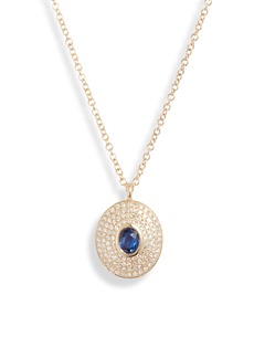 EF Collection Sapphire & Diamond Pendant Necklace