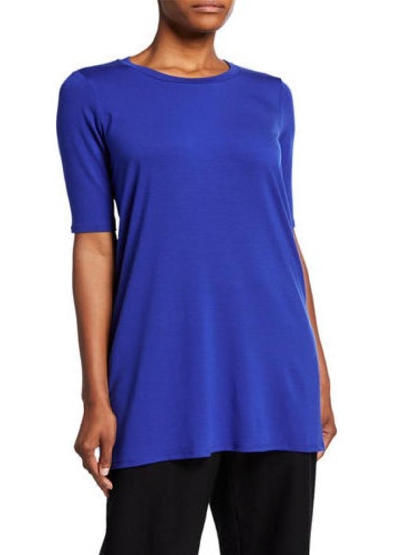 Eileen Fisher 1/2-Sleeve Round-Neck Tunic