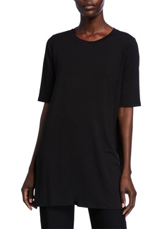 Eileen Fisher 1/2-Sleeve Round-Neck Tunic