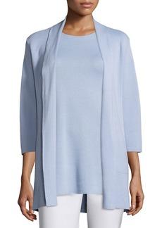 Eileen Fisher 3/4-Sleeve Silk/Organic-Cotton Jacket  Delfina