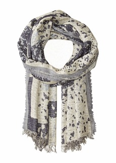 Eileen Fisher Airy Linen Cashmere Jacquard Scarf