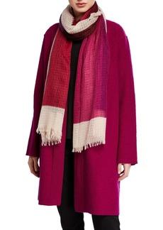 Eileen Fisher Airy Linen/Wool Block Scarf