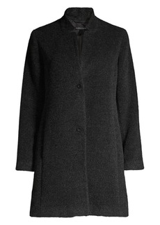 Eileen Fisher Alpaca & Wool Blend A-line Coat