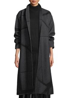 Eileen Fisher Alpaca Jacquard Long Coat